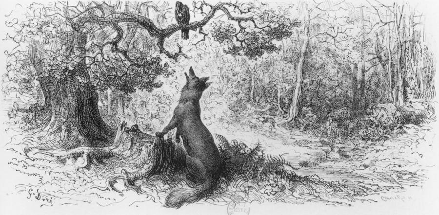 BRUXELLES : Le corbeau et le renard (en brusseleir)