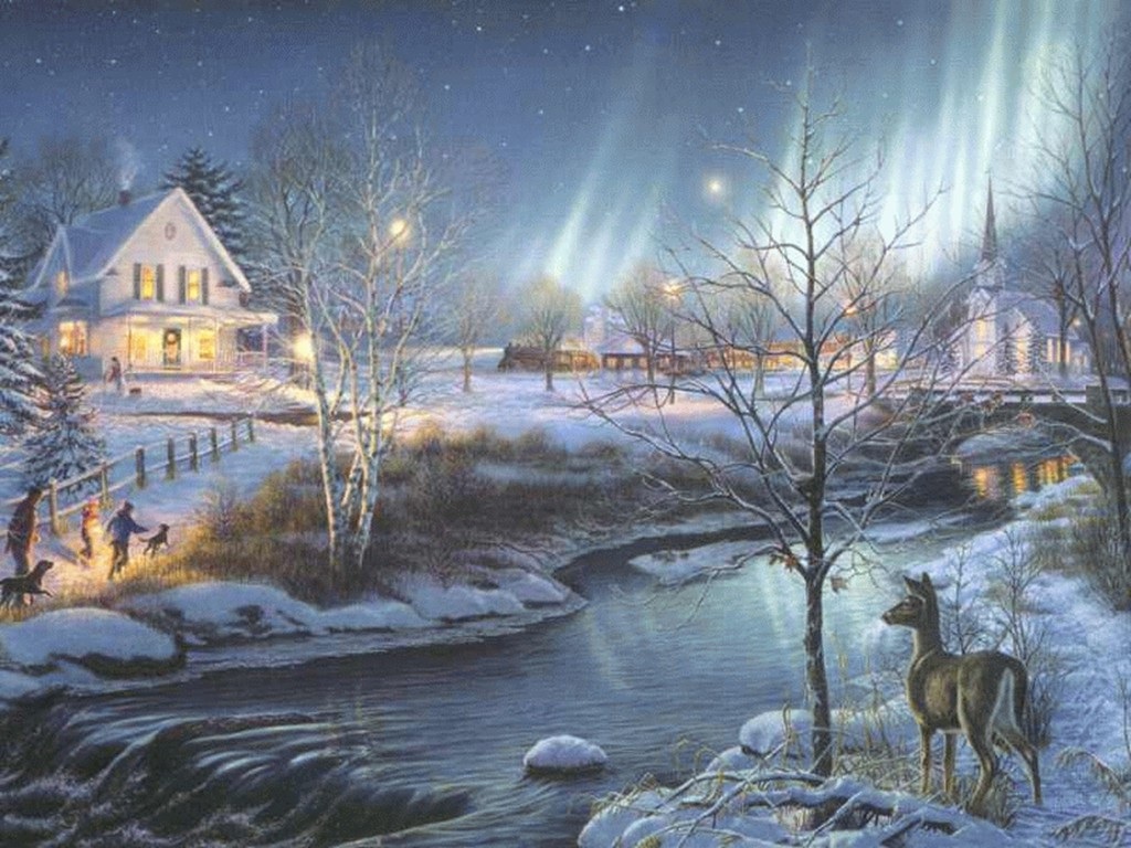 Old Time Christmas Wallpaper   Imagewallpapers.co