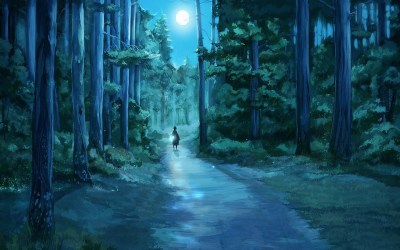 128+ Anime Forest Background