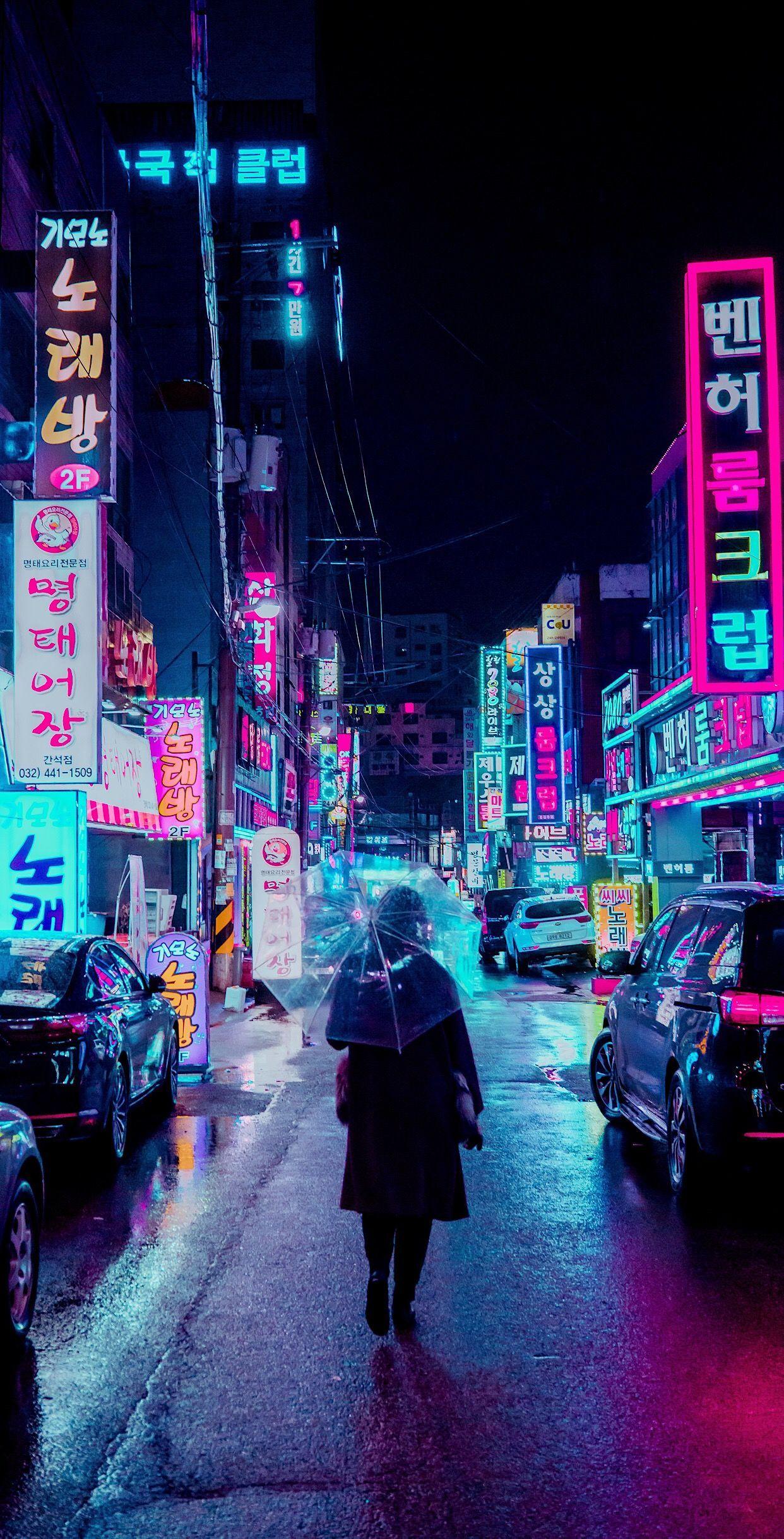 Neon City Wallpaper : wallpaper, Aesthetic, Wallpapers, WallpaperDog