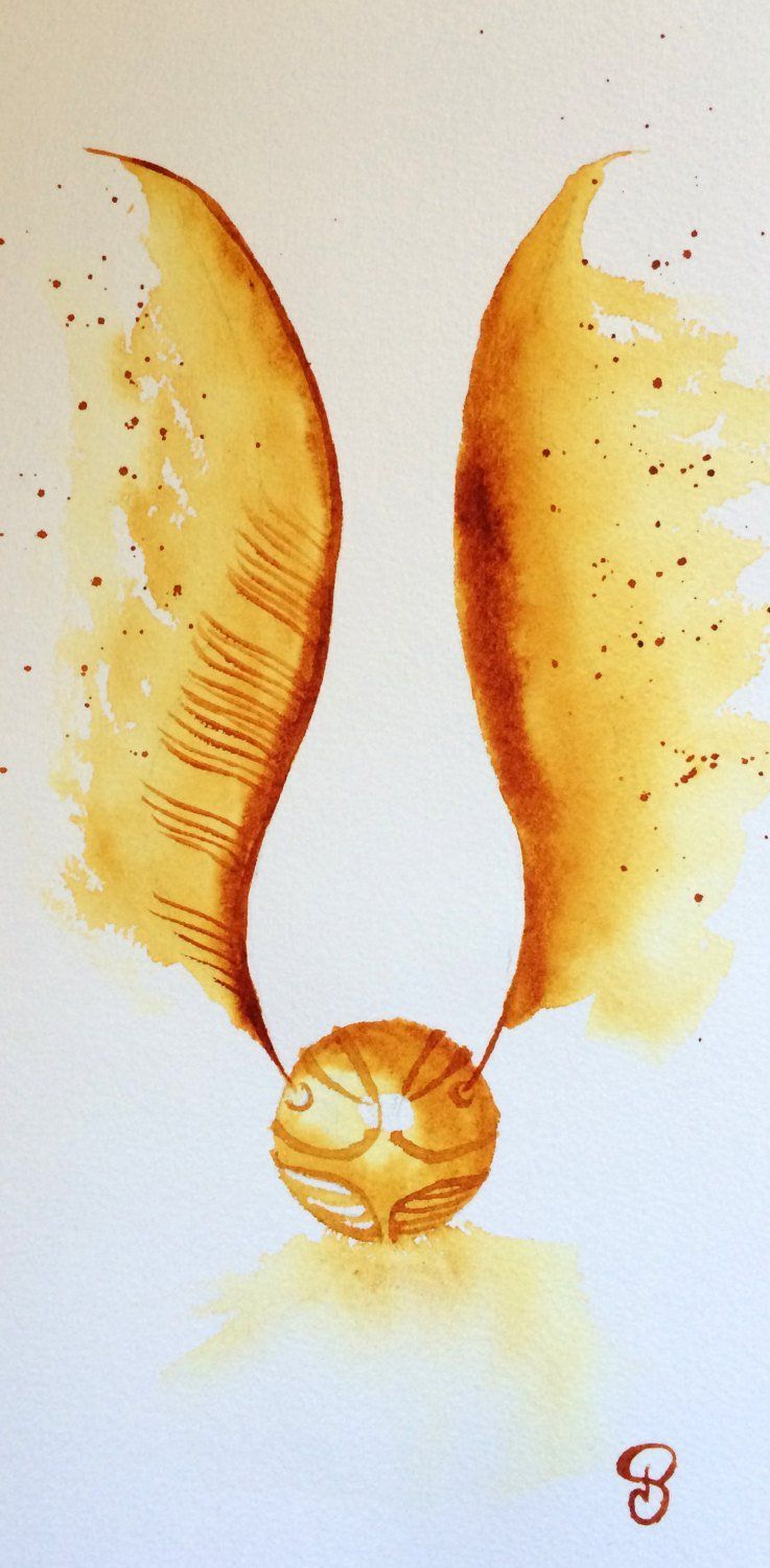 Harry Potter Snitch Drawing : harry, potter, snitch, drawing, Golden, Snitch, Harry, Potter, Wallpapers, WallpaperDog