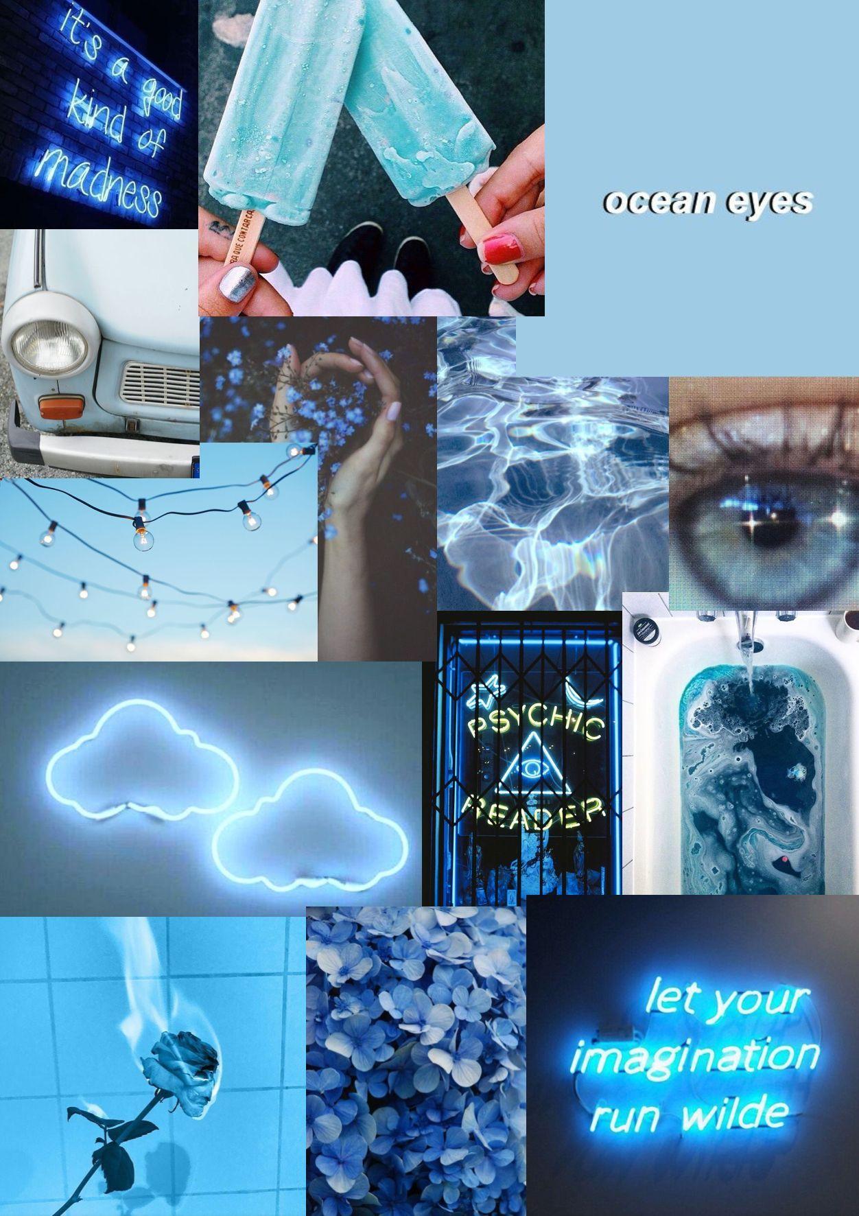 Blue Aesthetic Collage Wallpaper : aesthetic, collage, wallpaper, Light, Aesthetics, Collage, Wallpapers, WallpaperDog