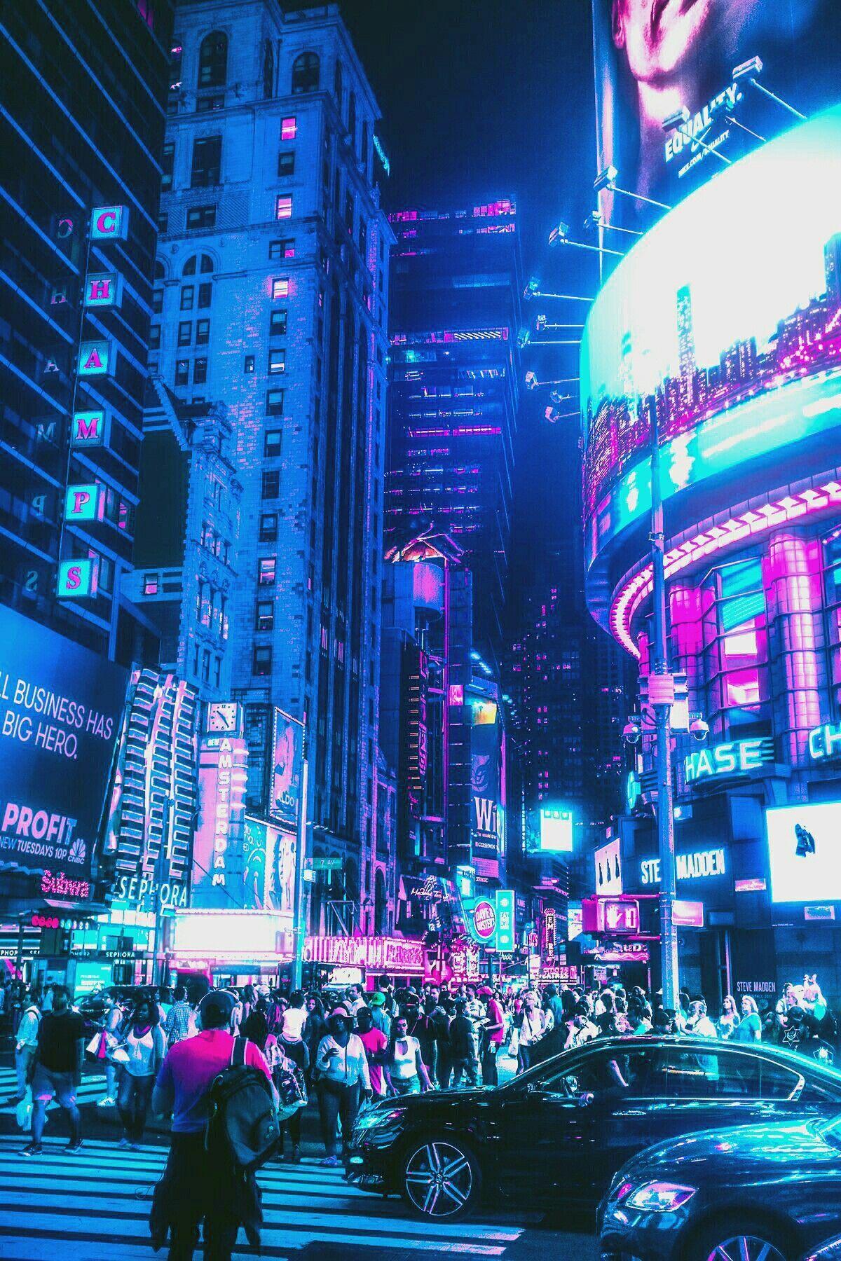Wallpaper Neon City : wallpaper, Aesthetic, Wallpapers, WallpaperDog