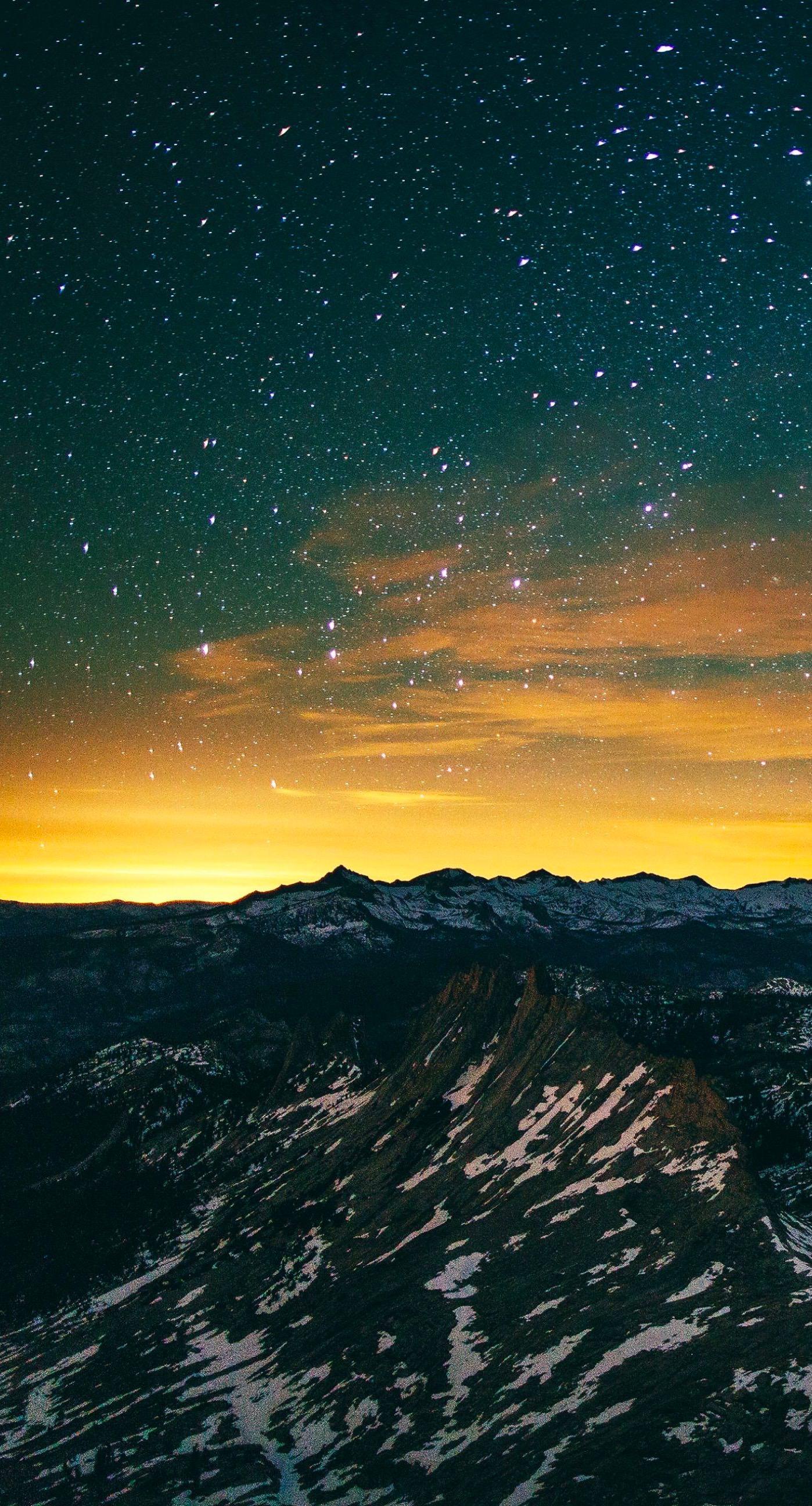 風景夜空山   wallpaper.sc iPhone6sPlus壁紙