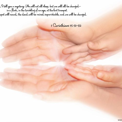1 Corinthians 15:51-52 christian wallpaper free download. Use on PC, Mac, Android, iPhone or any device you like.