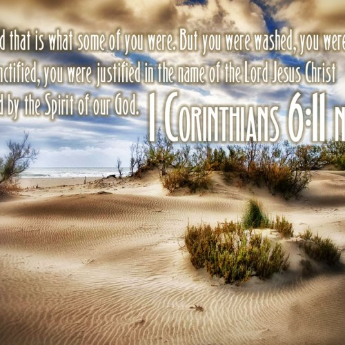 1 Corinthians 6:11 christian wallpaper free download. Use on PC, Mac, Android, iPhone or any device you like.