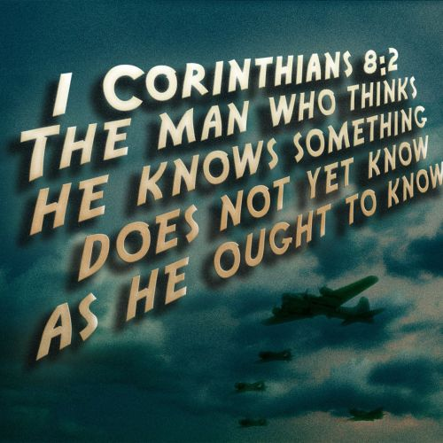 1 Corinthians 8:2 christian wallpaper free download. Use on PC, Mac, Android, iPhone or any device you like.