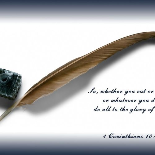 1 Corithians 10:31 christian wallpaper free download. Use on PC, Mac, Android, iPhone or any device you like.