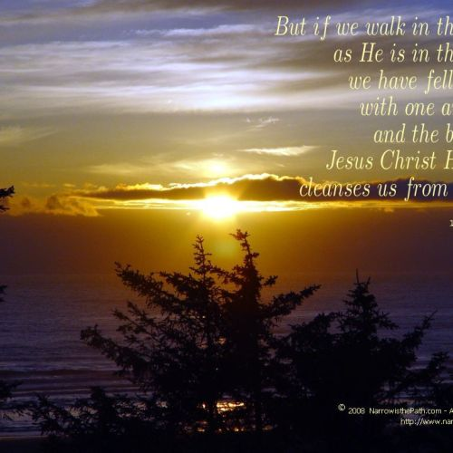 1 John 1:7 christian wallpaper free download. Use on PC, Mac, Android, iPhone or any device you like.