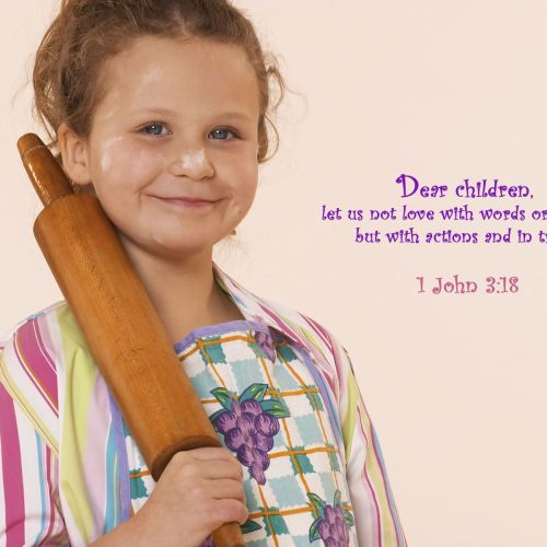 1 John 3:18 christian wallpaper free download. Use on PC, Mac, Android, iPhone or any device you like.