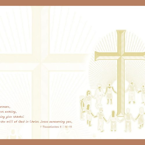 1 Thessalonians 5:16-18 christian wallpaper free download. Use on PC, Mac, Android, iPhone or any device you like.