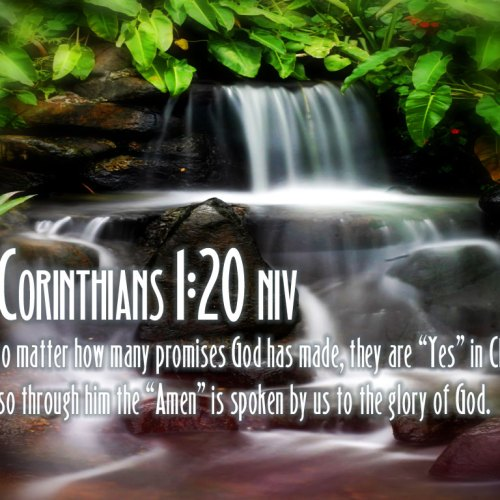 2 Corinthians 1:20 christian wallpaper free download. Use on PC, Mac, Android, iPhone or any device you like.
