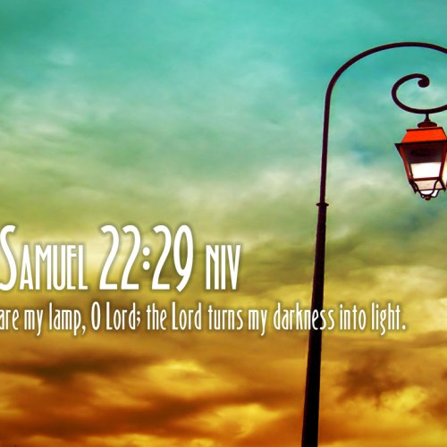 2 Samuel 22:29 christian wallpaper free download. Use on PC, Mac, Android, iPhone or any device you like.