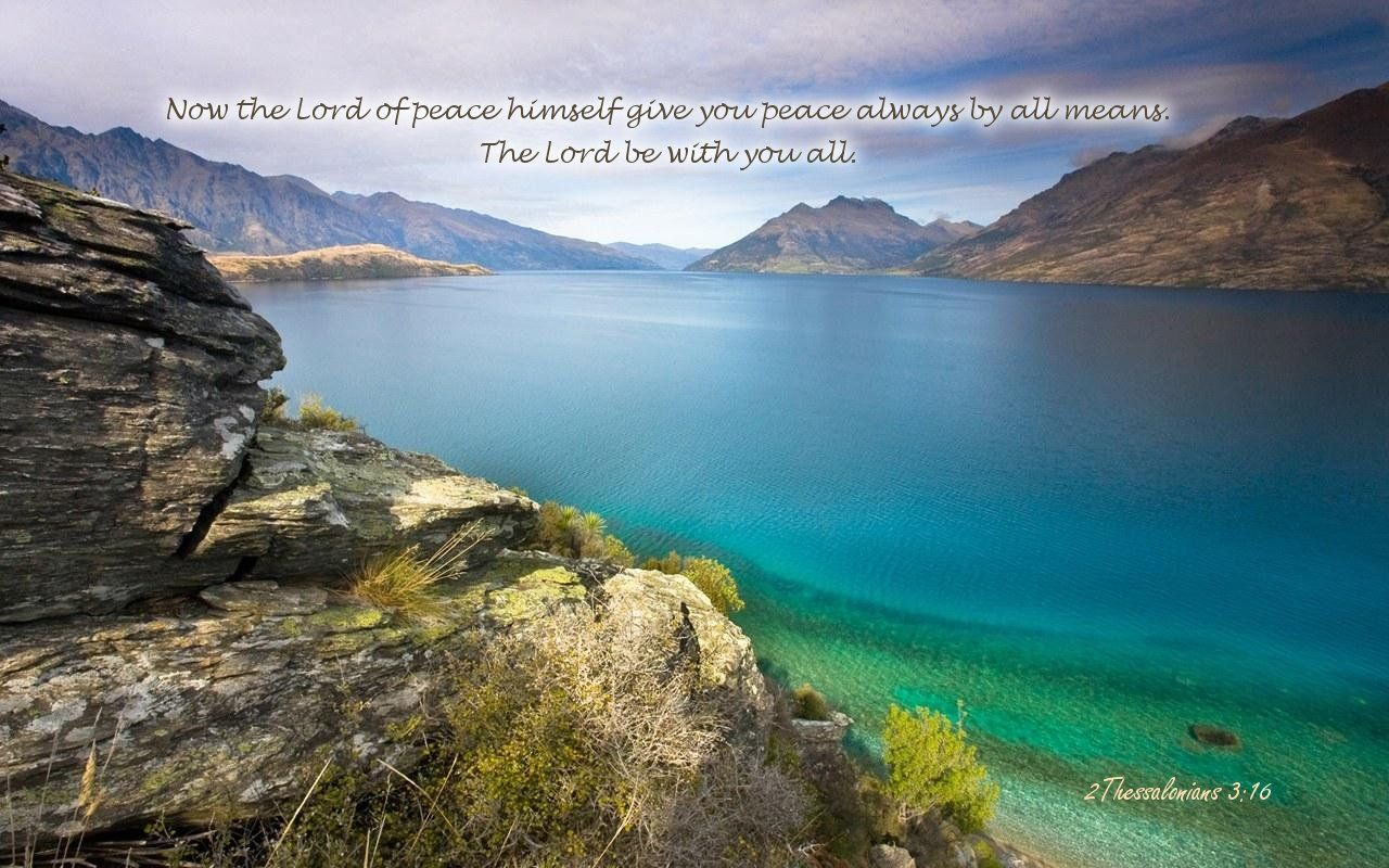 Christian wallpaper 2 Thessalonians 3:16