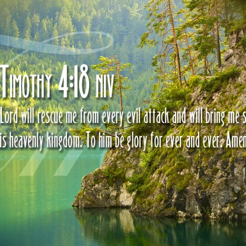 2 Timothy 4:18 christian wallpaper free download. Use on PC, Mac, Android, iPhone or any device you like.