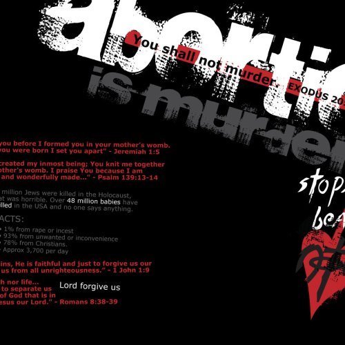 Abortion is Murder christian wallpaper free download. Use on PC, Mac, Android, iPhone or any device you like.