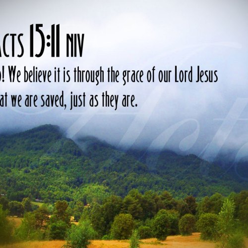 Acts 15:11 christian wallpaper free download. Use on PC, Mac, Android, iPhone or any device you like.
