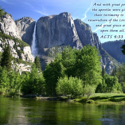 Acts 4:33 christian wallpaper free download. Use on PC, Mac, Android, iPhone or any device you like.