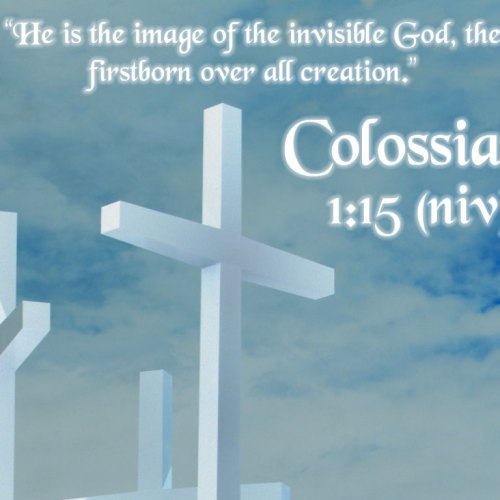 Colossians 1:15 christian wallpaper free download. Use on PC, Mac, Android, iPhone or any device you like.