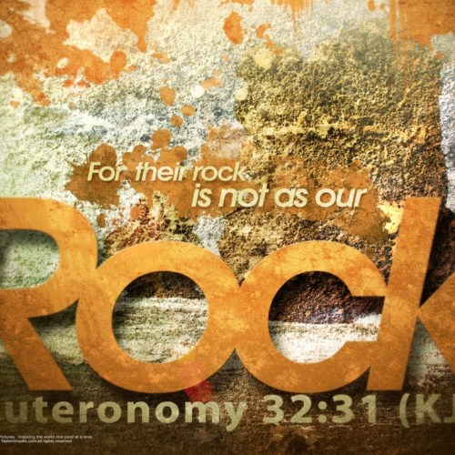 Deuteronomy 32:31 christian wallpaper free download. Use on PC, Mac, Android, iPhone or any device you like.