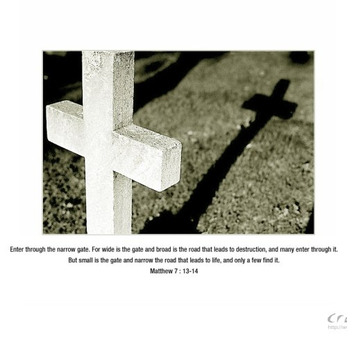 Enter the Narrow Gate christian wallpaper free download. Use on PC, Mac, Android, iPhone or any device you like.
