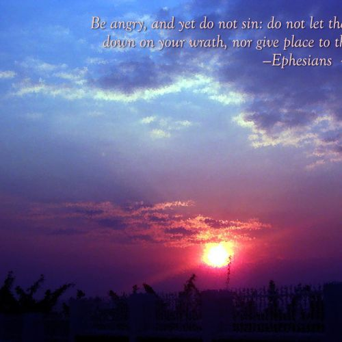 Ephesians 4:26-27 christian wallpaper free download. Use on PC, Mac, Android, iPhone or any device you like.