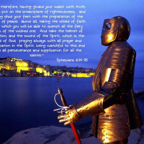 Ephesians 6:14-18 christian wallpaper free download. Use on PC, Mac, Android, iPhone or any device you like.