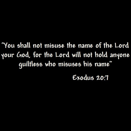 Exodus 20: 7 christian wallpaper free download. Use on PC, Mac, Android, iPhone or any device you like.