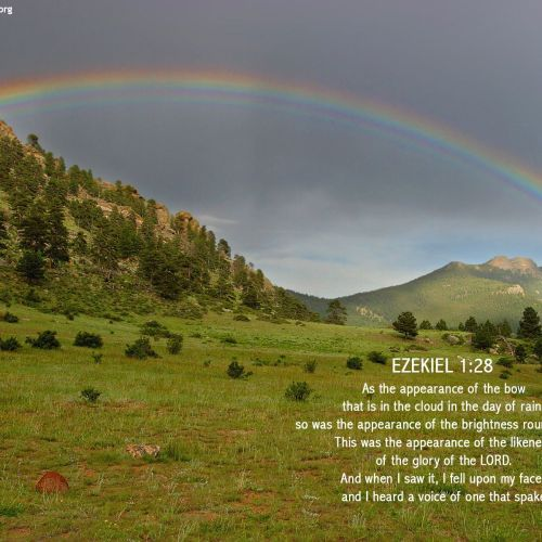 Ezekiel 1:28 christian wallpaper free download. Use on PC, Mac, Android, iPhone or any device you like.