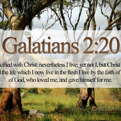 Galatians 2:20 christian wallpaper free download. Use on PC, Mac, Android, iPhone or any device you like.