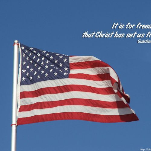 Galatians 5:1 christian wallpaper free download. Use on PC, Mac, Android, iPhone or any device you like.