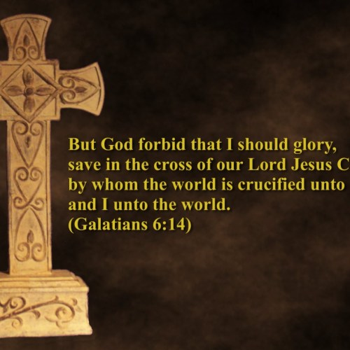 Galatians 6:14 christian wallpaper free download. Use on PC, Mac, Android, iPhone or any device you like.