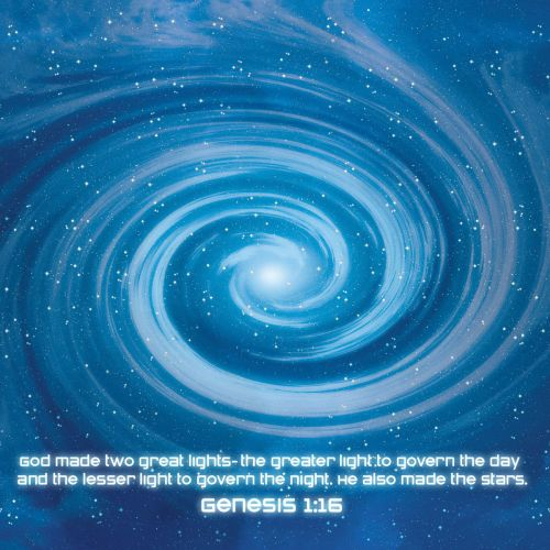 Genesis 1:16 christian wallpaper free download. Use on PC, Mac, Android, iPhone or any device you like.
