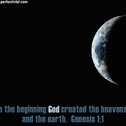 Genesis 1:1 christian wallpaper free download. Use on PC, Mac, Android, iPhone or any device you like.