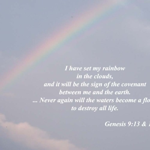 Genesis 9:13 & 15 christian wallpaper free download. Use on PC, Mac, Android, iPhone or any device you like.