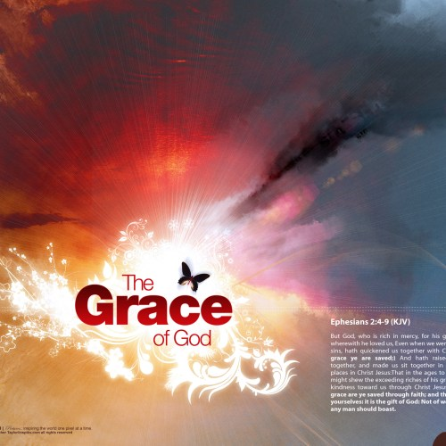 Grace of God christian wallpaper free download. Use on PC, Mac, Android, iPhone or any device you like.