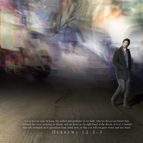 Hebrews 12:2 christian wallpaper free download. Use on PC, Mac, Android, iPhone or any device you like.