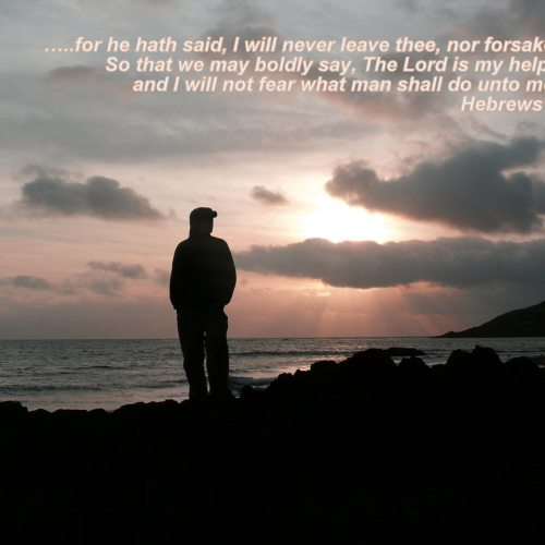 Hebrews 13:5b-6 christian wallpaper free download. Use on PC, Mac, Android, iPhone or any device you like.