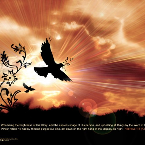 Hebrews 1:3 christian wallpaper free download. Use on PC, Mac, Android, iPhone or any device you like.