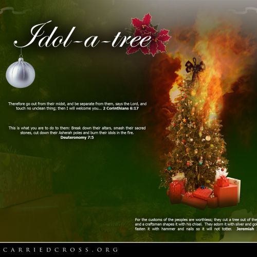 Idol-a-Tree christian wallpaper free download. Use on PC, Mac, Android, iPhone or any device you like.
