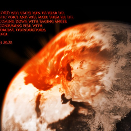 Isaiah 30:30 christian wallpaper free download. Use on PC, Mac, Android, iPhone or any device you like.