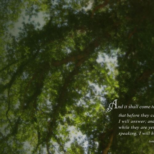 Isaiah 65:24 christian wallpaper free download. Use on PC, Mac, Android, iPhone or any device you like.