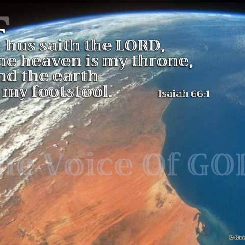 Isaiah 66:1 christian wallpaper free download. Use on PC, Mac, Android, iPhone or any device you like.