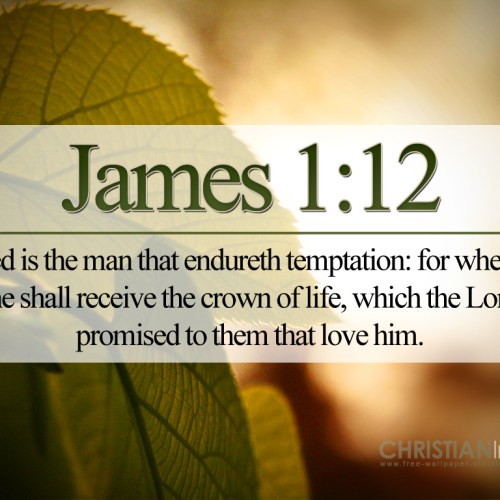 James 1:12 christian wallpaper free download. Use on PC, Mac, Android, iPhone or any device you like.