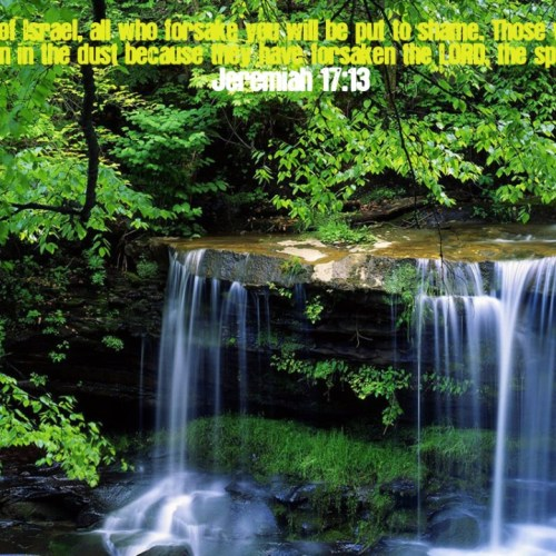 Jeremiah 17:13 christian wallpaper free download. Use on PC, Mac, Android, iPhone or any device you like.
