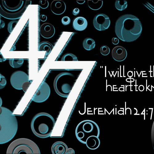 Jeremiah 24:7 christian wallpaper free download. Use on PC, Mac, Android, iPhone or any device you like.