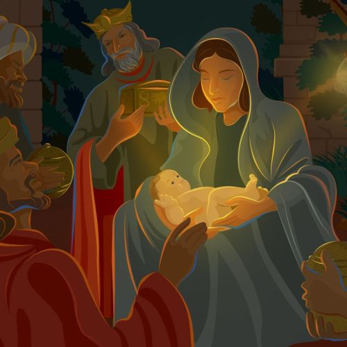 Jesus and Christmas – Baby King christian wallpaper free download. Use on PC, Mac, Android, iPhone or any device you like.