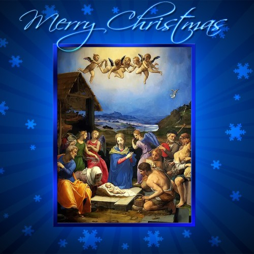 Jesus and Christmas – Merry Christmas christian wallpaper free download. Use on PC, Mac, Android, iPhone or any device you like.