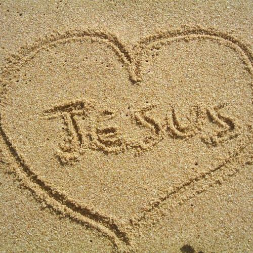 Jesus in the sand christian wallpaper free download. Use on PC, Mac, Android, iPhone or any device you like.