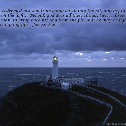 Job 33:28-30 christian wallpaper free download. Use on PC, Mac, Android, iPhone or any device you like.